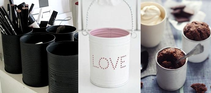 Manualidades reciclar latas medianas de otra manera - Manualidades recicladas para decorar ...