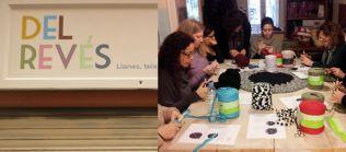 tienda taller manualidades Del Revés Sants Barcelona