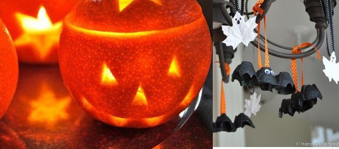 Manualidades halloween reciclado y f cil de otra manera - Adornos de halloween para hacer en casa ...