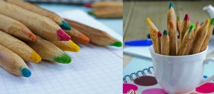 galletas para niños en forma de lápices