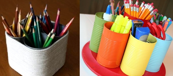 Manualidades: Reciclar latas medianas | De Otra Manera