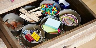 organizar con latas de atun